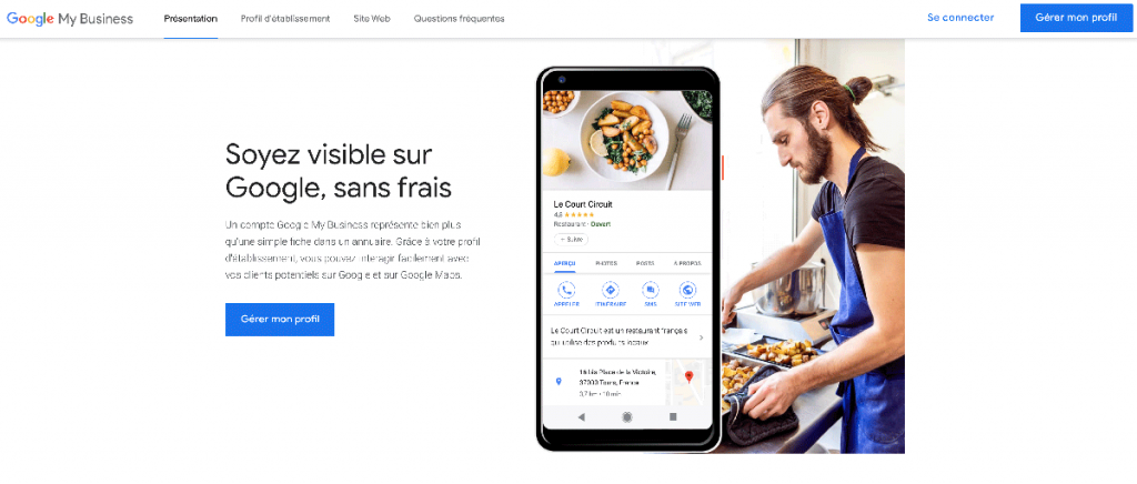 Accueil Google MY Business